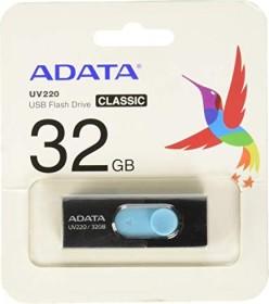 ADATA UV220 32GB, USB-A 2.0 schwarz/blau (AUV220-32G-RBKBL)