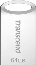 Transcend JetFlash 710 silber 64GB, USB-A 3.0 (TS64GJF710S)