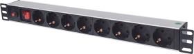 "Intellinet 19"" 1U Rackmount aluminium power strip 8-way, 1U, 3m (713986)"