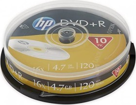 HP DVD+R 4.7GB 16x, 10-pack Spindle (DME00027)