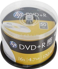 HP DVD+R 4.7GB 16x, 50-pack Spindle (DRE00026)