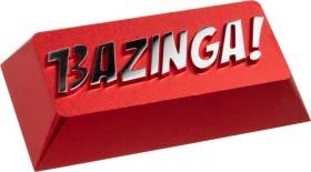 Zomoplus Aluminium Keycap BAZINGA!, Enter-Taste US-Layout, rot/silber (0769129158411)