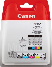 Canon Multipack PGI-570PGBK+CLI-571 schwarz/dreifarbig (0372C004)