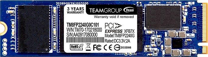TeamGroup PCIe SSD P30 240GB, M.2, Retail (TM8FP2240G0C101)