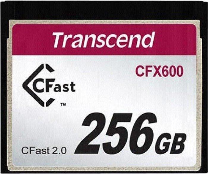 Transcend R500/W250 CFast 2.0 CompactFlash Card [CFAST2.0] 600x 256GB (TS256GCFX600)