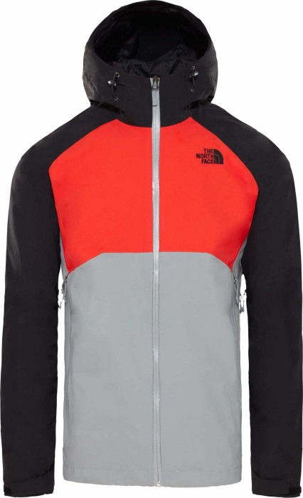 The North Face Stratos HyVent Jacke mid greyfiery redtnf black (Herren) (CMH9 BE8) ab € 98,99