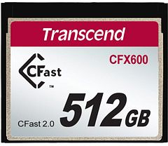 Transcend R500/W250 CFast 2.0 CompactFlash Card [CFAST2.0] 600x 512GB (TS512GCFX600)