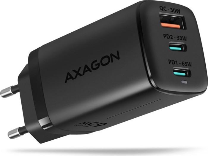 AXAGON ACU-DPQ65 QC4 + USB-C PD Wall Charger schwarz -- © caseking.de