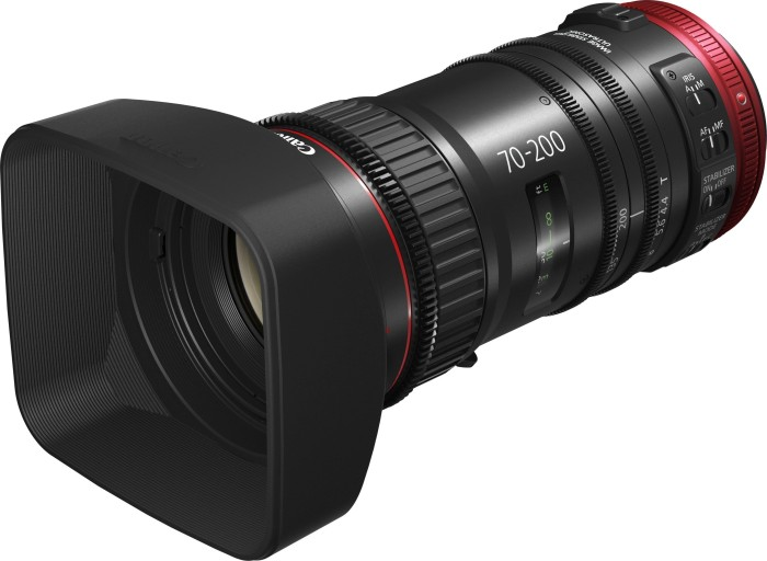 Canon lens CN-E 70-200mm T4.4 L IS black