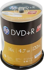HP DVD+R 4.7GB 16x, 100-pack Spindle (DRE00033)