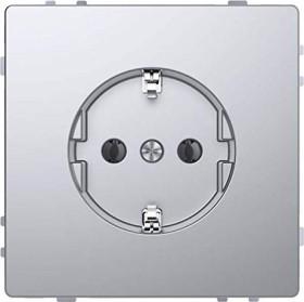 Merten System Design SCHUKO-Steckdose, edelstahl (MEG2301-6036)
