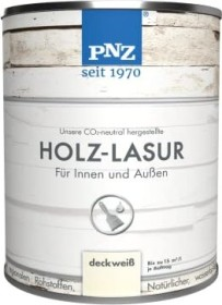 PNZ Holzlasur Holzschutzmittel Nr.17 deckweiß, 250ml