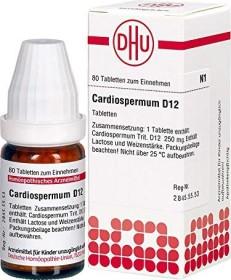 DHU Cardiospermum Tabletten D12, 80 Stück