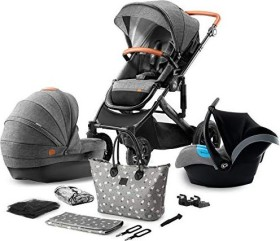 Kinderkraft Prime 3in1 combo pushchair grey 2020