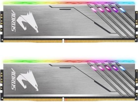 Gigabyte Aorus RGB Memory DIMM Kit silber 16GB, DDR4-3200, CL16-18-18-38 (GP-AR32C16S8K2HU416R)