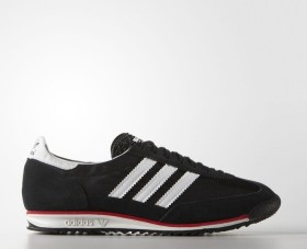 adidas SL 72 core black/white/lush red (Herren) (S78997)