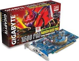 Gigabyte Radeon X600 Pro, 128MB DDR, VGA, DVI, TV-out, PCIe (GV-RX60P128D)