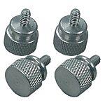 Thumbscrews coarse/silver/chrome 4 pieces set