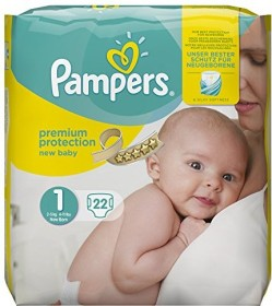 Pampers Premium Protection New Baby Gr.1 Einwegwindel, 2-5kg, 22 Stück