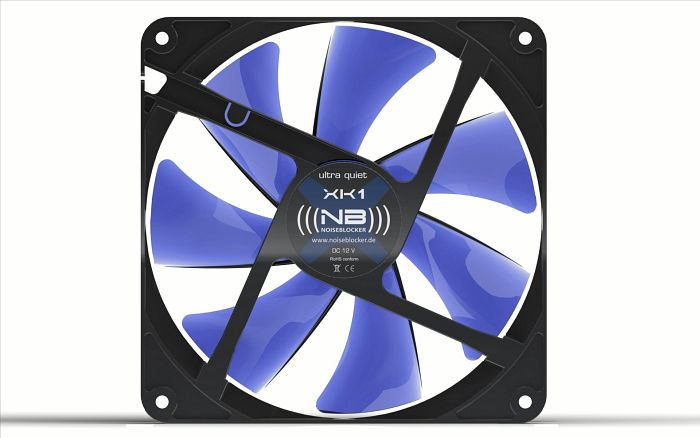 Noiseblocker NB-BlackSilentFan XK2, 140x140x25mm, 1100rpm, 77m³/h, 19.5dB(A)