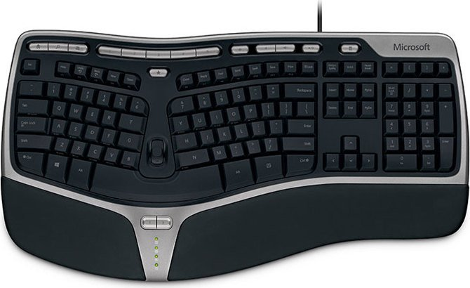 Microsoft OEM Natural Ergonomic Keyboard 4000, USB, DE (5QH-00002)