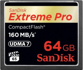 SanDisk Extreme PRO R160/W150 CompactFlash Card 64GB (SDCFXPS-064G-X46)