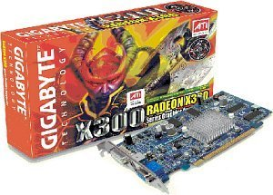 Gigabyte Radeon X300, 128MB DDR, DVI, TV-out, PCIe (GV-RX30128D)