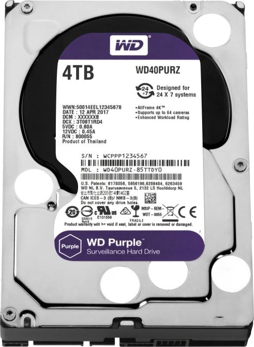 Western Digital WD Purple 4TB, SATA 6Gb/s (WD40PURZ)