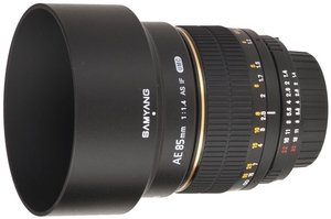 Samyang lens AE 85mm 1.4 Asph IF for Nikon