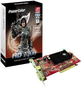 PowerColor Radeon HD 2400 Pro, 256MB DDR2, VGA, DVI, TV-out, AGP (R61BG-ND3)