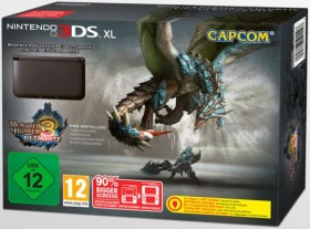 Nintendo 3DS XL Monster Hunter 3 Limited Edition Bundle schwarz