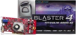 Creative 3D Blaster 4 titanium 4800SE, GeForce4 Ti4400 8X, 128MB DDR, DVI, TV-out, AGP (70GB000002005)