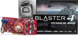 Creative 3D Blaster 4 Titanium 4800, GeForce4 Ti4600 8X, 128MB DDR, DVI, TV-out, AGP (70GB000002007)