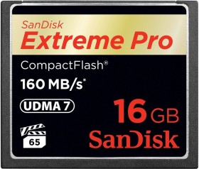 SanDisk R160/W150 CompactFlash Card [CF] Extreme PRO 16GB (SDCFXPS-016G-X46)