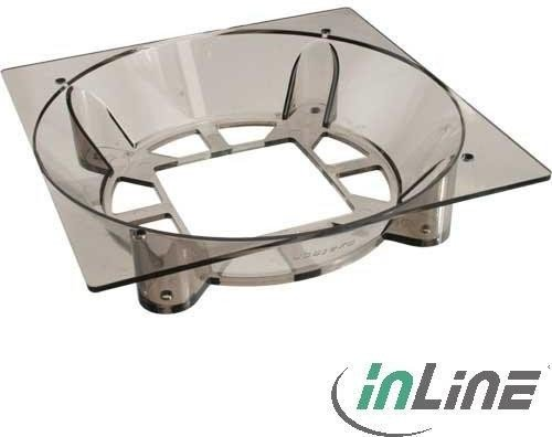 InLine CPU cooler adapter 200mm to 140mm transparent (36021T)