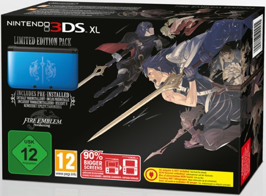 Nintendo 3DS XL Basic unit Fire Emblem - Awakening Limited Edition, blue (DS) (2201832)