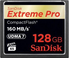 SanDisk Extreme PRO R160/W150 CompactFlash Card 128GB (SDCFXPS-128G-X46)