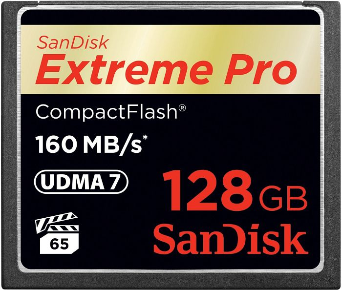 SanDisk R160/W150 CompactFlash Card [CF] Extreme PRO 128GB (SDCFXPS-128G-X46)
