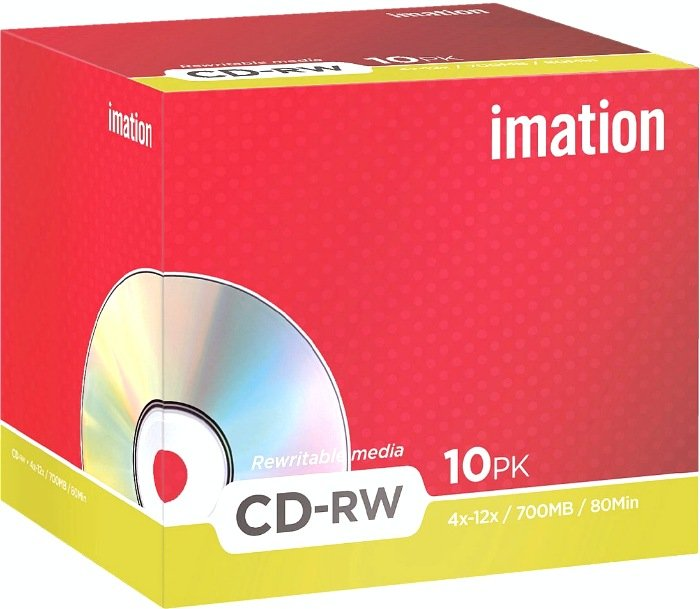 Imation CD-RW 80min/700MB 4-12x, 10-pack (i19002)