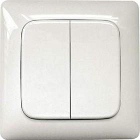 Eltako hint-radio 4-channel Funktaster FT55R alpine white, wall switch (30000226)