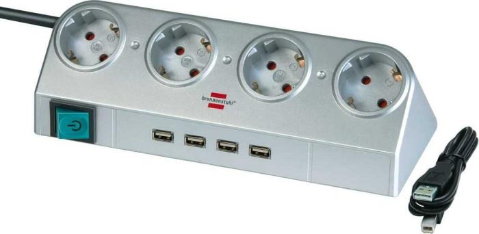 Brennenstuhl Desktop-Power mit Schalter und USB-Hub 2.0 4-fach, 1.8m (1153540134) -- via Amazon Partnerprogramm