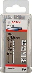 Bosch HSS-Co drills 4.5x47x80mm, 10-pack (2608585883)