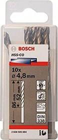 Bosch HSS-Co drills 4.8x52x86mm, 10-pack (2608585884)