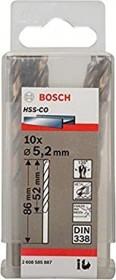 Bosch HSS-Co Spiralbohrer 5.2x52x86mm, 10er-Pack (2608585887)