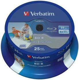 Verbatim BD-R 25GB 6x, 25-pack Spindle wide Inkjet printable (43811)