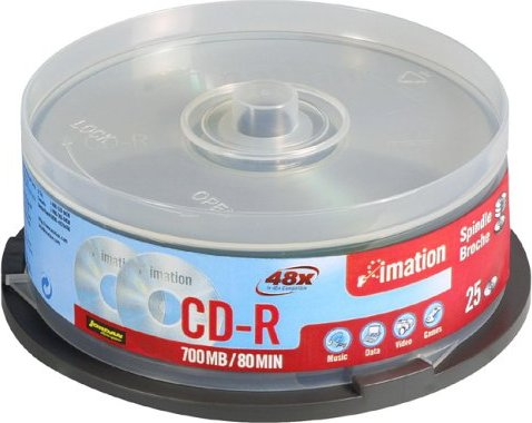 Imation CD-R 80min/700MB, 25-pack Spindle (i18646) -- via Amazon Partnerprogramm