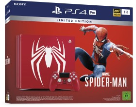 Sony Playstation 4 Pro - 1TB Marvel's Spider-Man Limited Edition Bundle red (9728016)