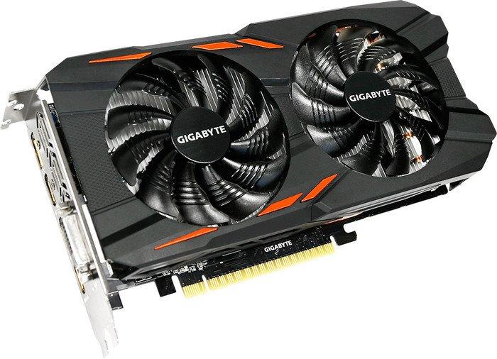 Gigabyte GeForce GTX 1050 Ti Windforce OC 4G, 4GB GDDR5, DVI, 3x HDMI, DP (GV-N105TWF2OC-4GD)