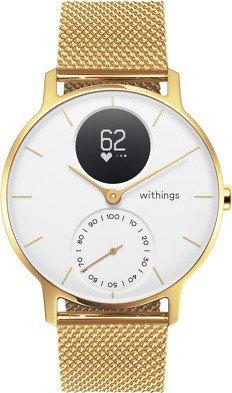 Nokia Steel HR 36mm Aktivitäts-Tracker white/champagne gold