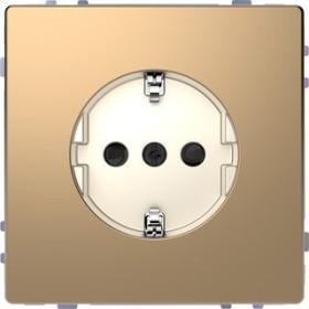 Merten System Design SCHUKO-Steckdose, champagnermetallic (MEG2300-6051)
